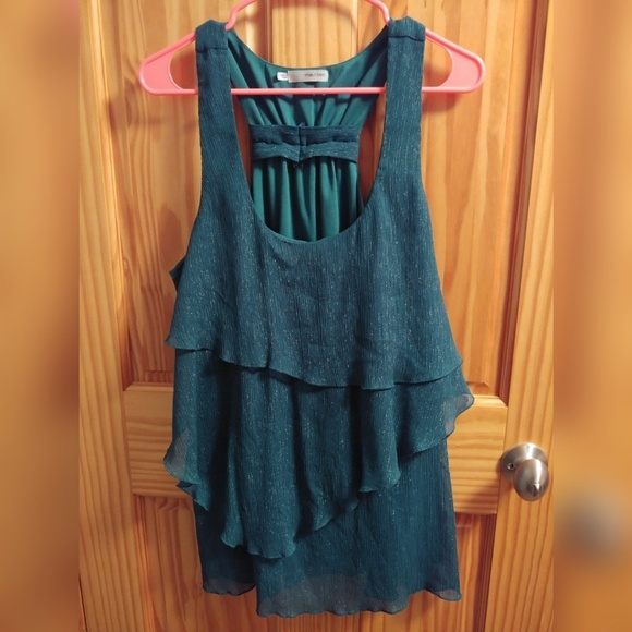 Maurices Tops - Tiered shimmery teal tank